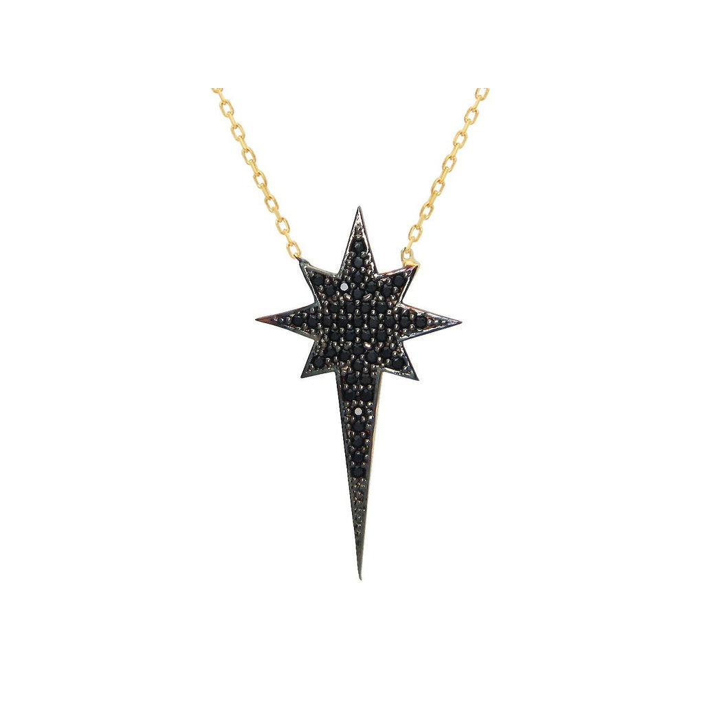 silver star pendant sterling plated north gold necklace