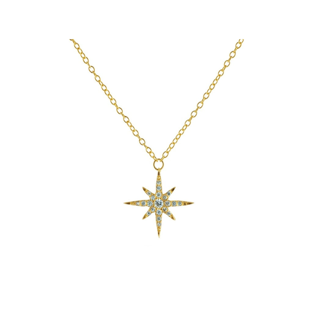 golden sun pendant products necklace basikglam small starburst