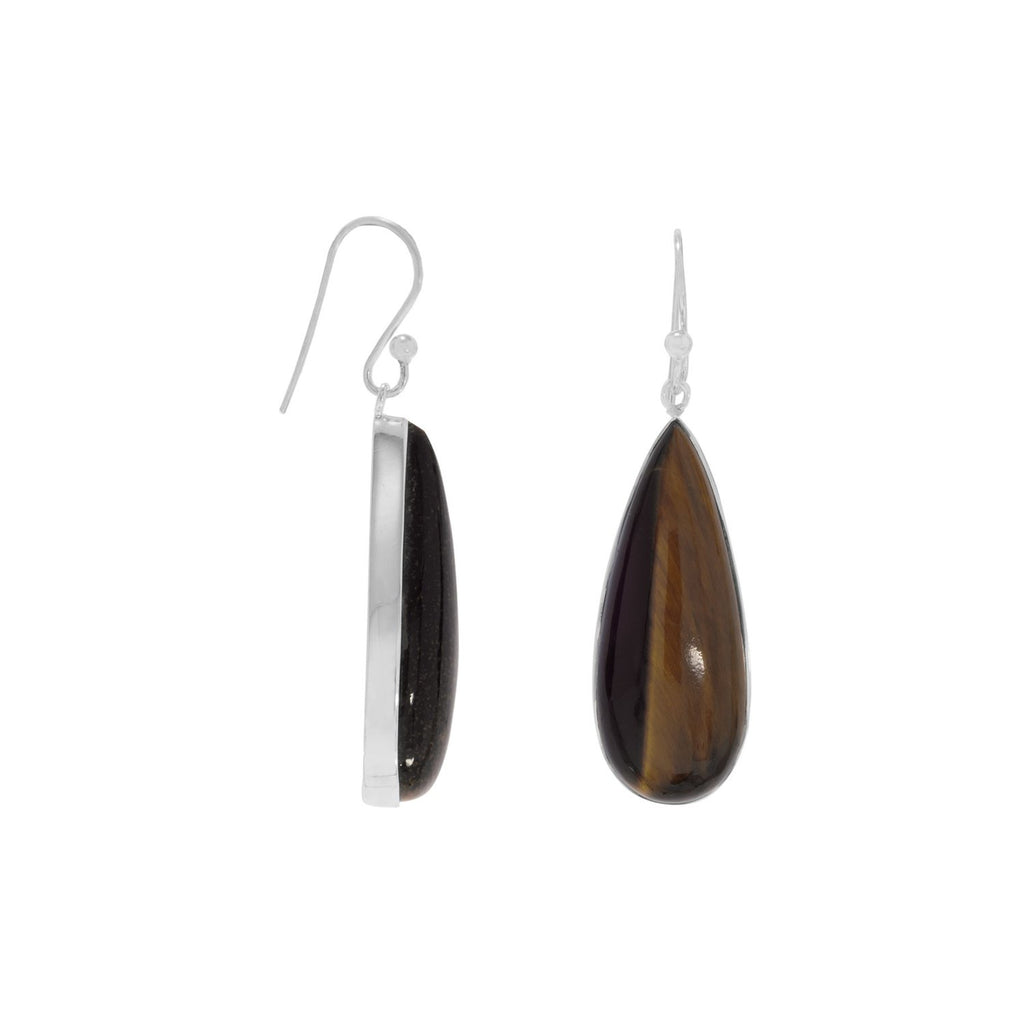 Tiger's Eye Drop Earrings