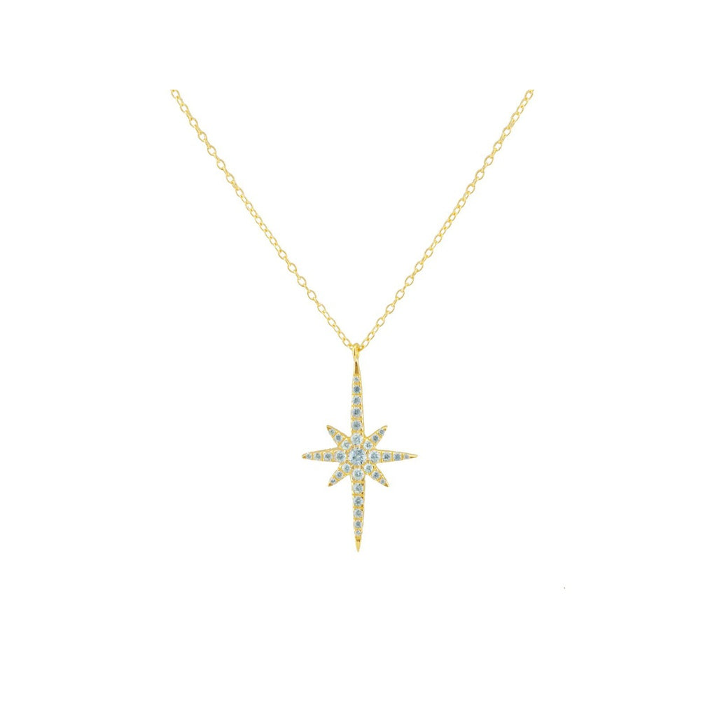 Golden Starburst Sun Pendant Necklace
