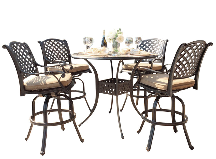 Nevada 5-Piece Round Bar Set - Everhome Designs