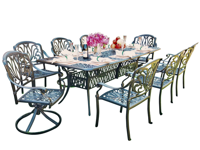 Elise 9-Piece Rectangular Dining Set - Everhome Designs