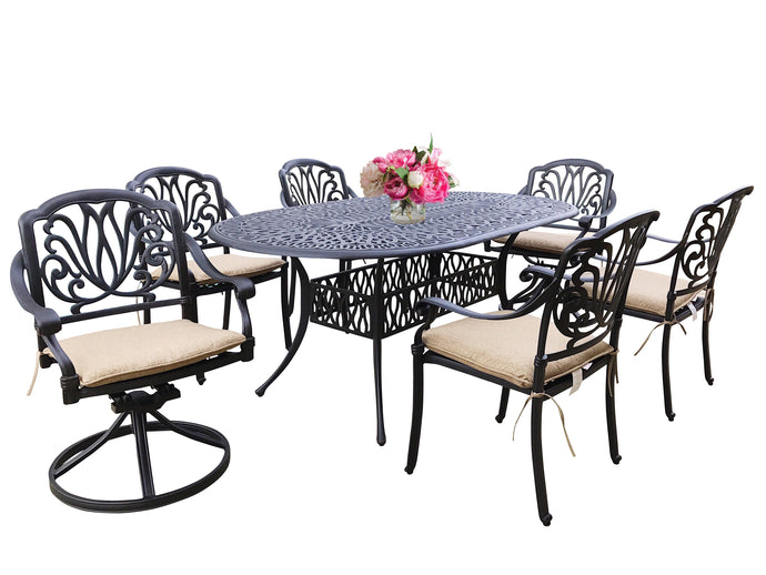 Elise 7-Piece Oval Dining Set - Everhome Designs