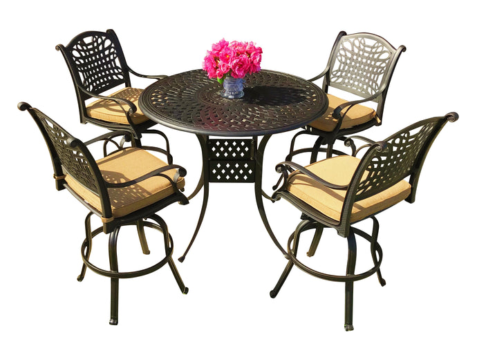 Malibu 5-Piece Round Bar Set - Everhome Designs