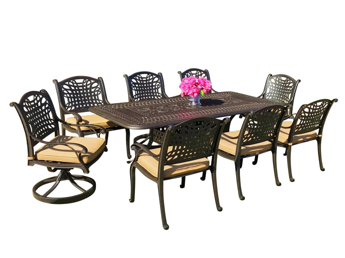 Malibu 9-Piece Rectangular Patio Dining Set - Everhome Designs