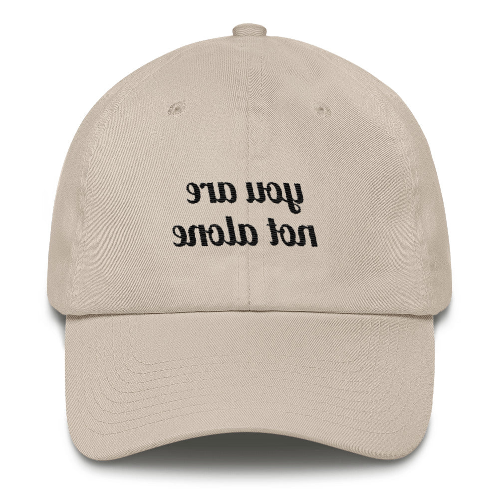 You Are Not Alone Reflective Dad Hat