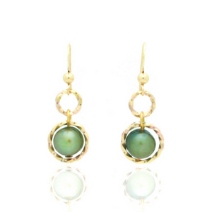 Splendid Earrings - Gold/Green Pearl