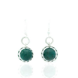 Splendid Earrings - Silver/Green Agate