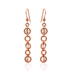 Celestial Earrings - Rose Gold Copper