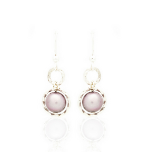 Splendid Earrings - Silver/Lavender Pearl
