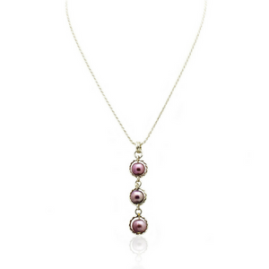Trinity Necklace - Purple