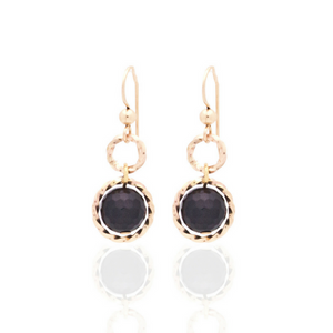 Splendid Earrings - Gold/Black Onyx