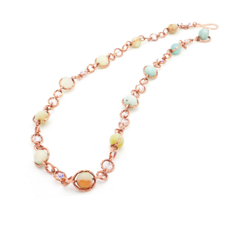 Felicity Necklace – Copper/Aqua