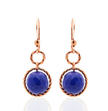 Splendid Earrings – Copper/Blue Agate