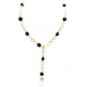 Felicity Necklace - Gold/Onyx