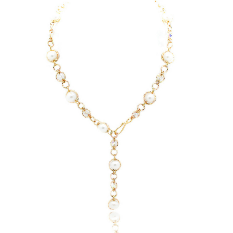 Felicity Necklace - Gold/Pearl
