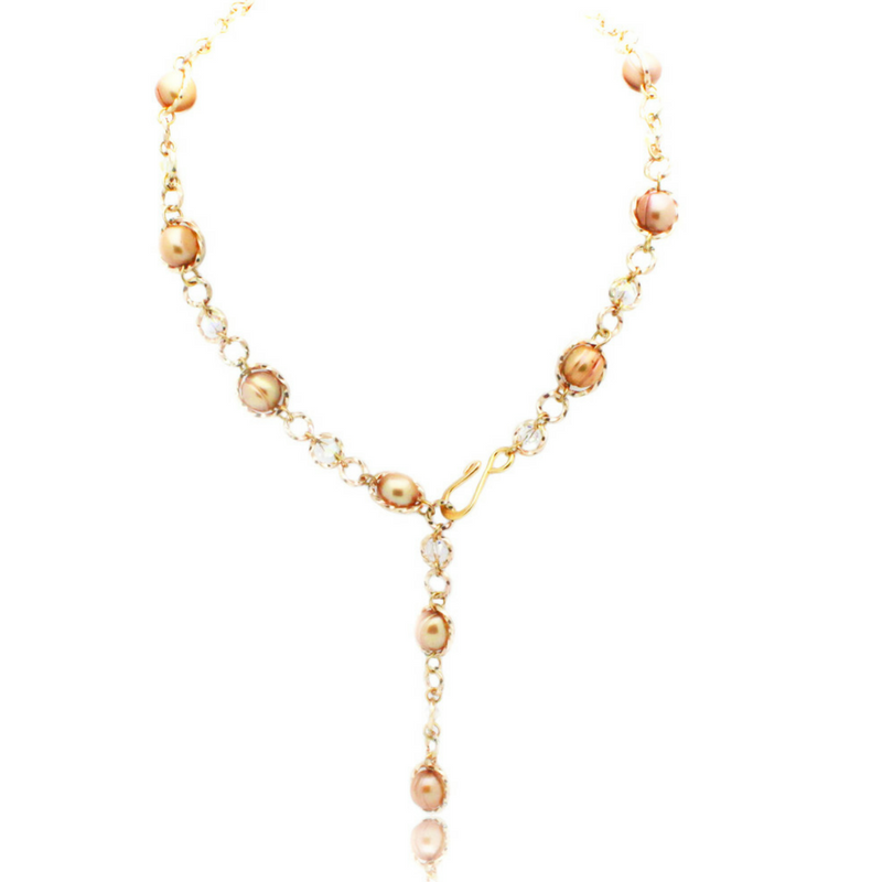 Felicity Necklace - Gold/Gold Pearl