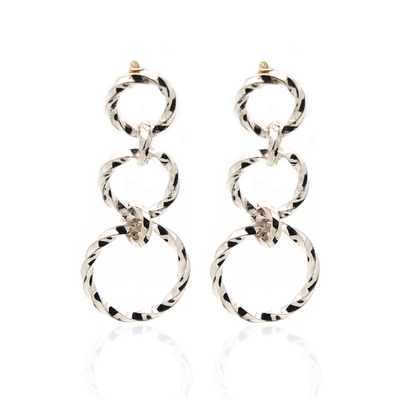Linx Earrings - Silver