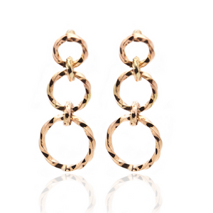 Linx Earrings - Copper