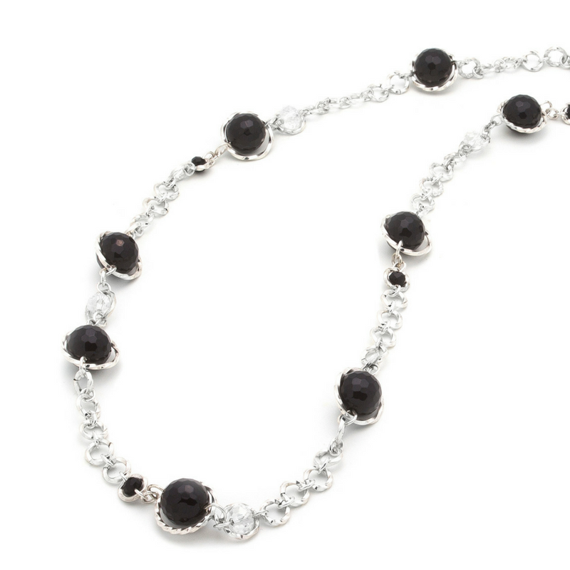 Serendipity Necklace - Silver/Onyx