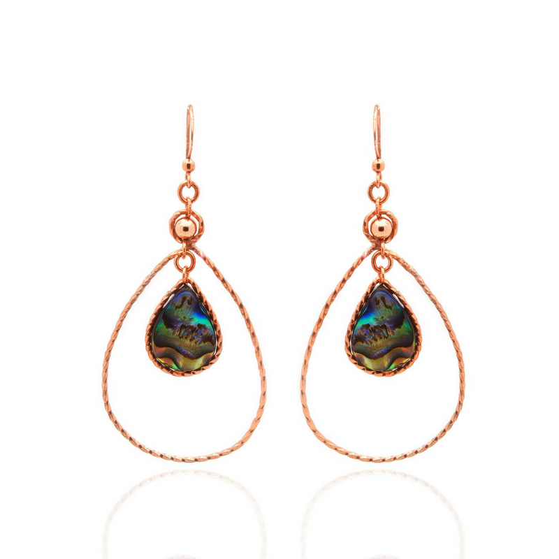 Dew Earrings - Abalone