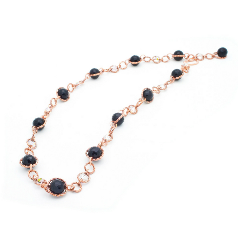 Felicity Necklace - Copper/Onyx