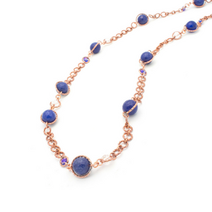 Serendipity Necklace - Copper/Blue Agate