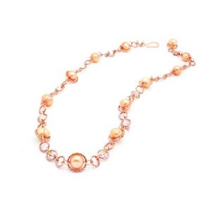 Felicity Necklace – Copper/Orange Pearl