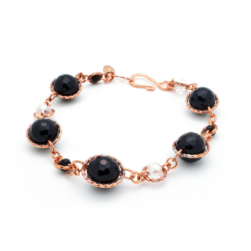 Fantasy Bracelet – Copper/Black Onyx