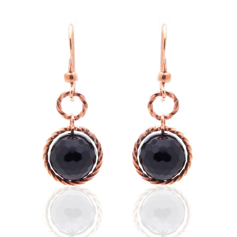Splendid Earrings – Copper/Onyx