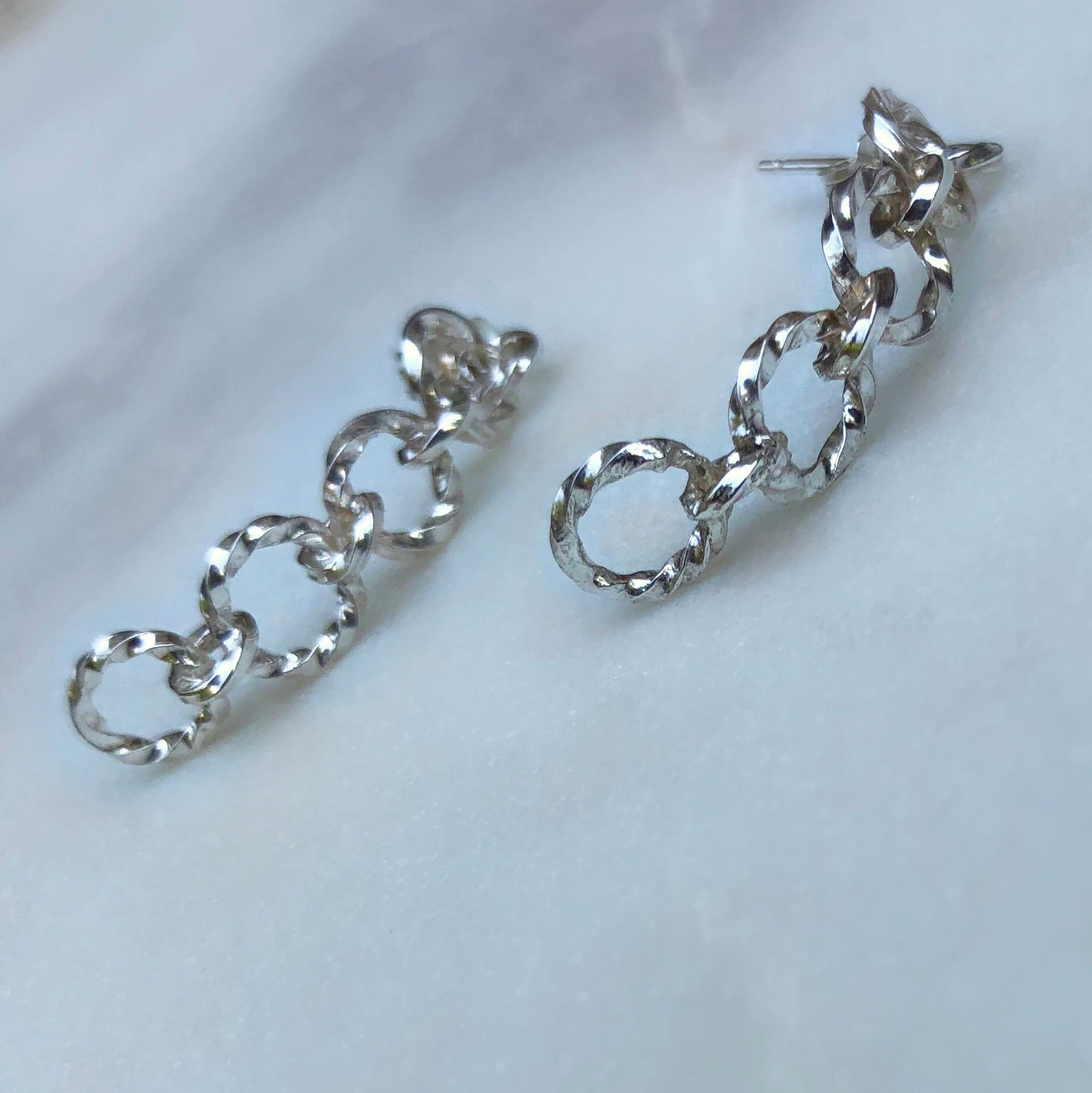 Linked Earrings - Silver