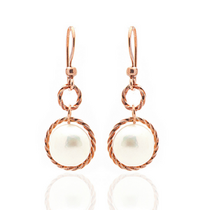 Splendid Earrings – Copper/Pearl