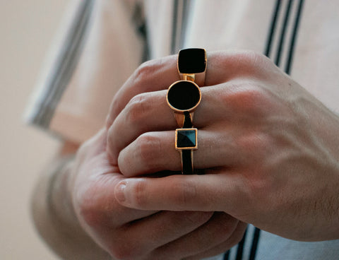 gold plated signet ring jewellery water resistant