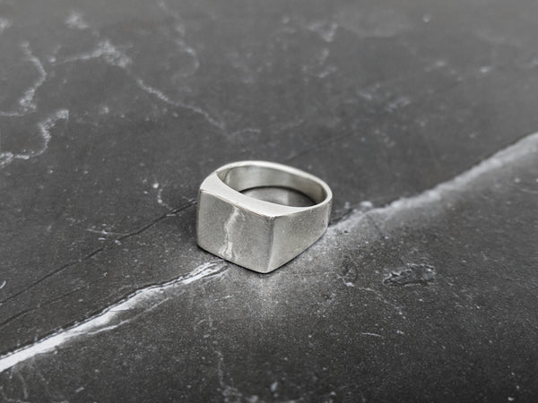 DesignB Square Signet Ring in Sterling Silver