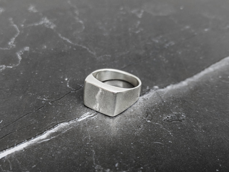 Square Signet Ring In Sterling Silver