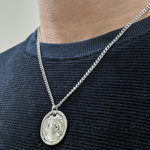 Coin Necklace in Silver