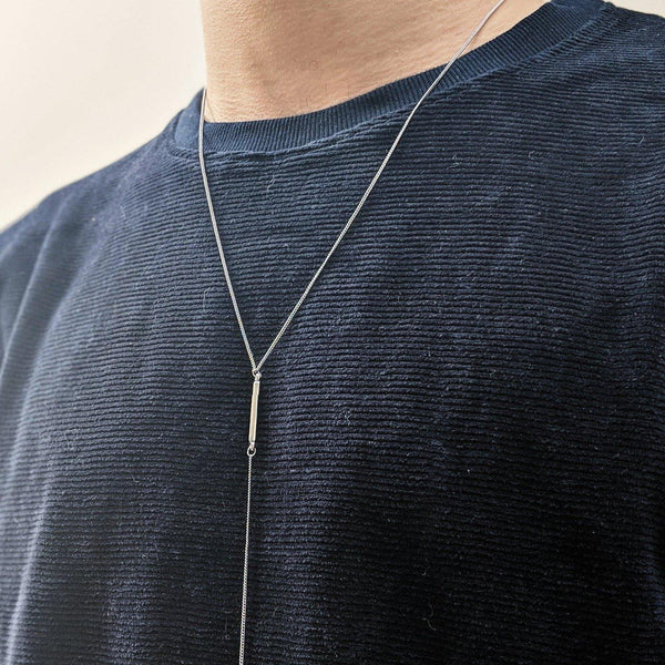 Skinny Chain Necklace in Silver - designblondon