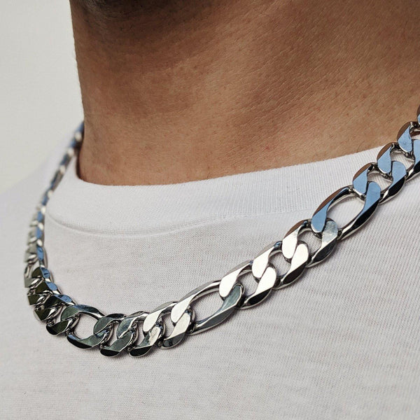 Designb Chunky Figaro Chain Necklace In Silver