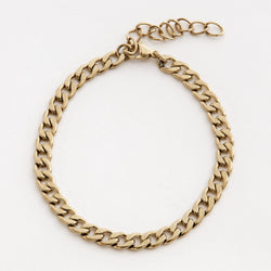 Curb Chain Bracelet in Gold 𝙎𝙩𝙖𝙞𝙣𝙡𝙚𝙨𝙨 𝙎𝙩𝙚𝙚𝙡 - 6mm