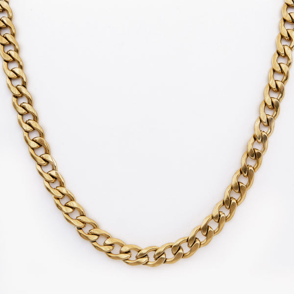 Gold Curb Chain Necklace 9mm | DesignB - SEO - designblondon