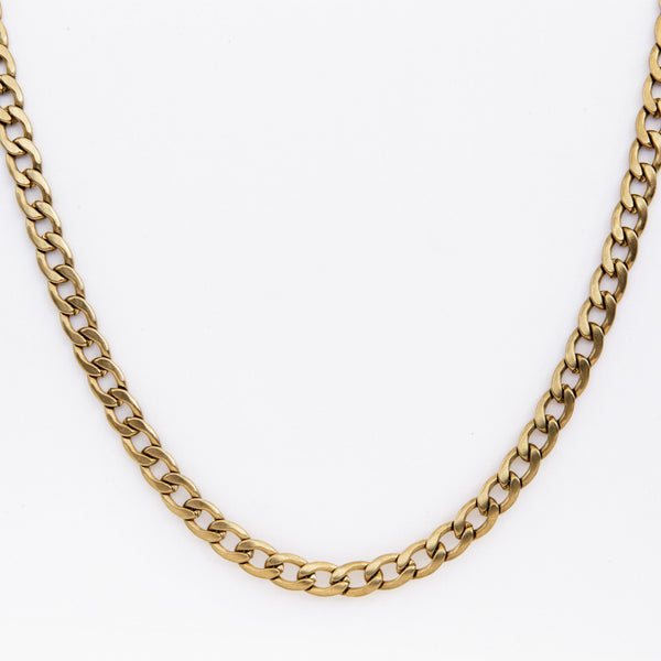 Gold Curb Chain Necklace 6mm | DesignB - SEO - designblondon