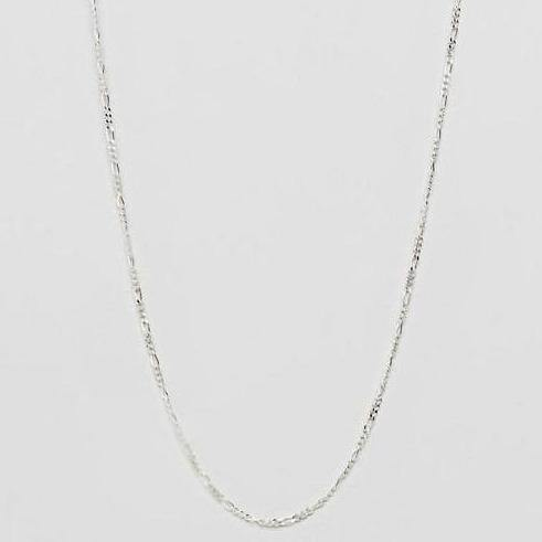 Figaro Chain Necklace In 𝙎𝙩𝙚𝙧𝙡𝙞𝙣𝙜 𝙎𝙞𝙡𝙫𝙚𝙧 - designblondon