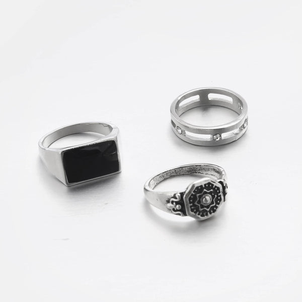 Industrial Style Rings In 3-Pack - designblondon