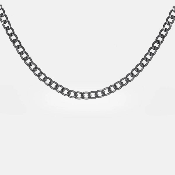 Chunky Curb Chain In Gunmetal