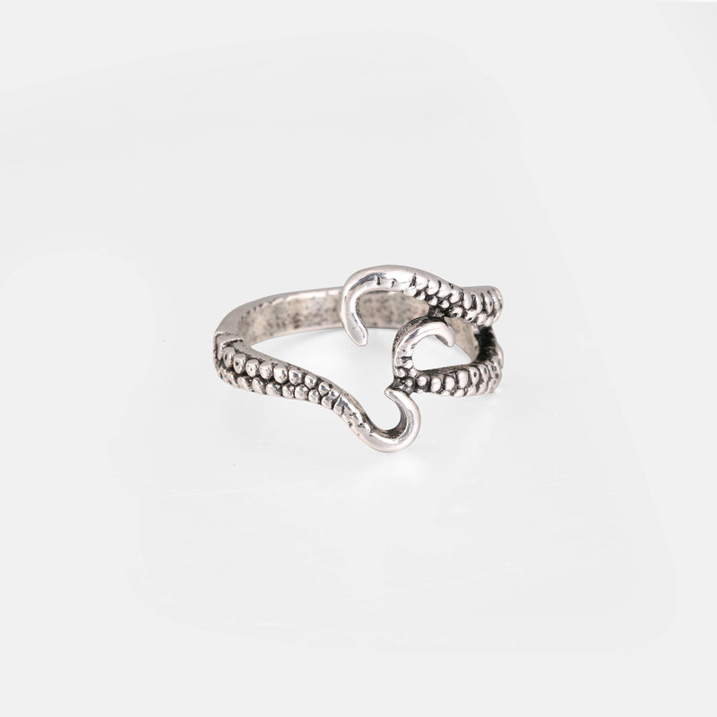 Wrap Around Tentacle Ring In Silver