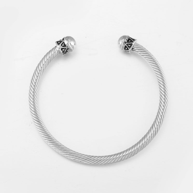 DesignB twisted rope bangle in silver