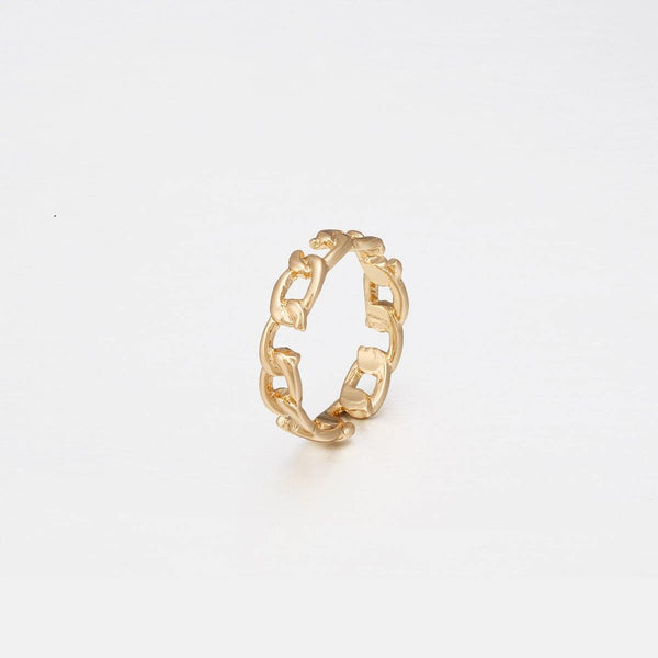Broken Link Chain Ring In Gold - designblondon