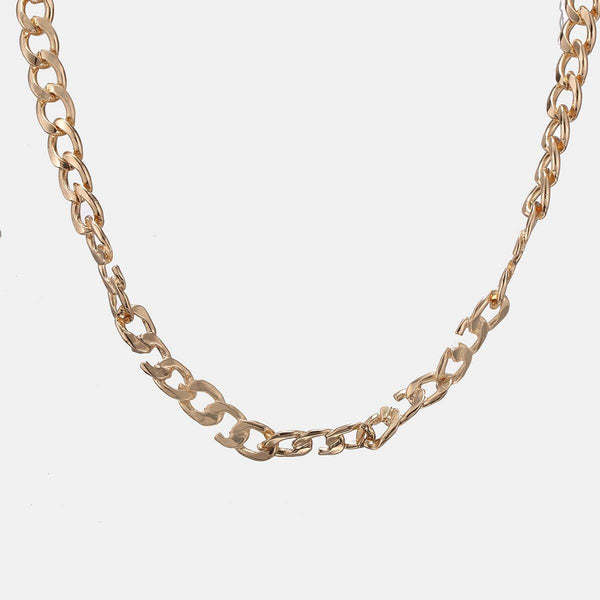 Broken Link Neckchain In Gold - designblondon