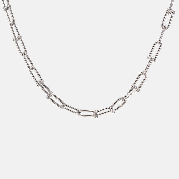 Oval Links Neckchain In Silver - designblondon