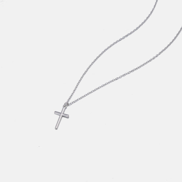 Designb Cross Pendant Necklace In Sterling Silver